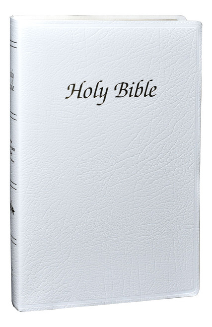 Indexed NABRE First Communion Bible | White | Engrave