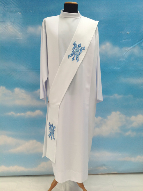 #430 Embroidered Marian Deacon Stole | 100% Polyester Damask