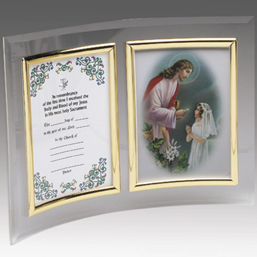 Girl's First Communion Curved Acrylic Frame