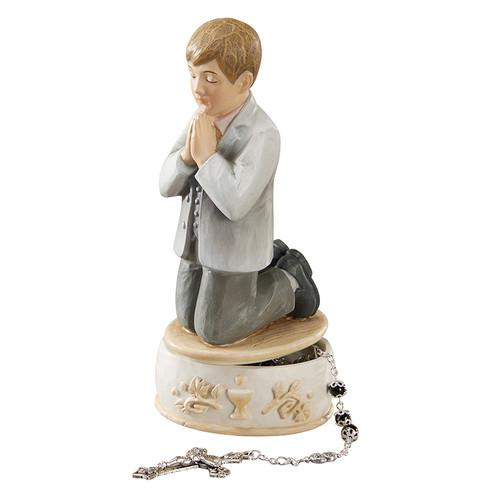 "Remembrance 6"" First Communion Keepsake Box | Boy"