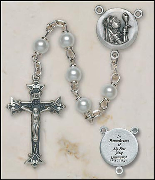 Girls Italian First Communion Lock-Link Rosary