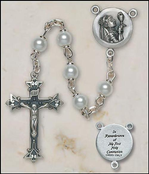 Girls Italian First Communion Lock-Link Rosary