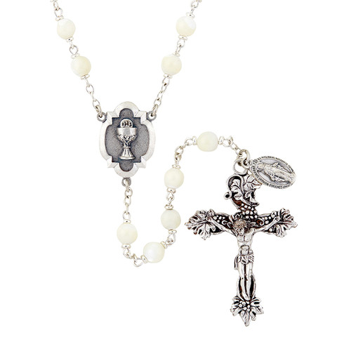 Heritage First Communion Rosary | White