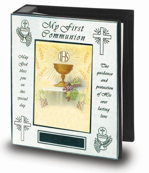 First Communion Photo Album | Polished Brass