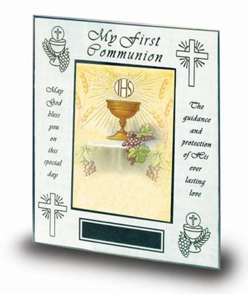 "First Communion Prayer Photo Frame | Holds 4"" x 6"""