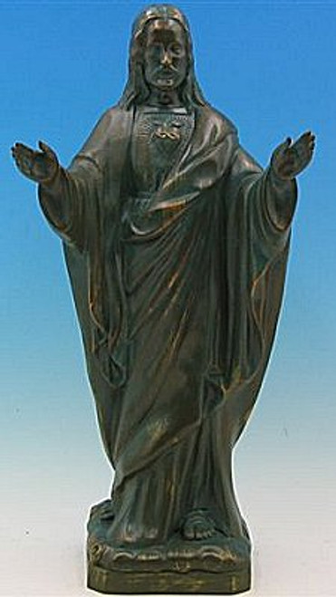 "24"" Sacred Heart of Jesus Garden Statue 