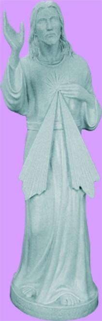 "24"" Divine Mercy Garden Statue | Granite Finish"