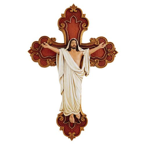 "10"" Risen Christ Wall Cross | Resin"