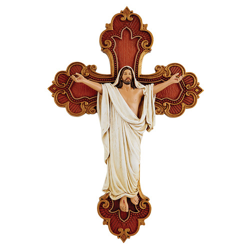 "10"" Risen Christ Wall Cross 