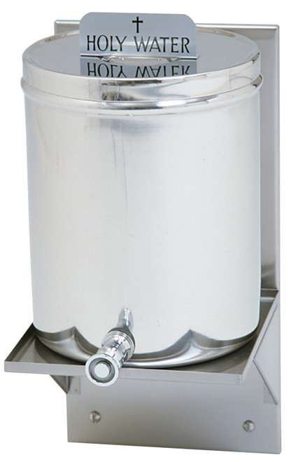 2 Gallon Holy Water Receptacle Complete Set | Stainless Steel
