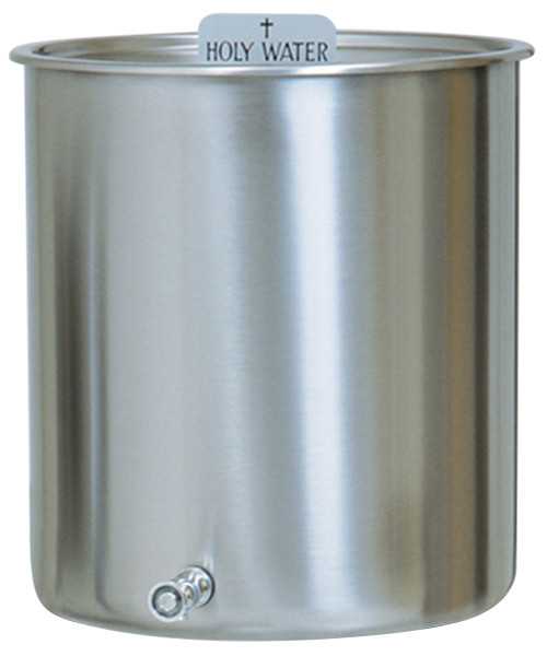 15 Gallon Holy Water Reservoir & Top With Handles | Stainless Steel