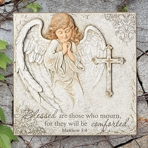 "11"" Angel Cross Bible Verse Plaque 