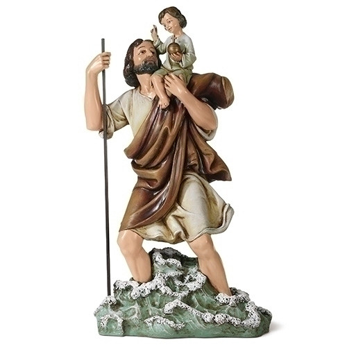 """11"""" St. Christopher Statue 