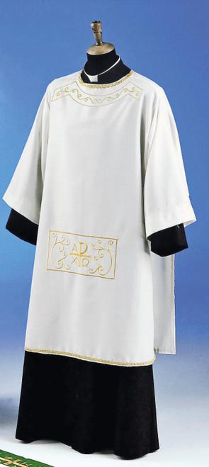 #712 Embroidered Dalmatic | 100% Primavera Polyester | All Colors