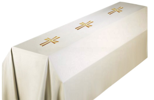 #652 Embroidered Cross Funeral Pall | 8' x 12' | 100% Polyester