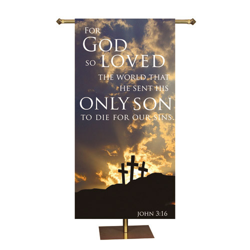 Easter Promise Series Banner | For God So Loved |  3' x 6'