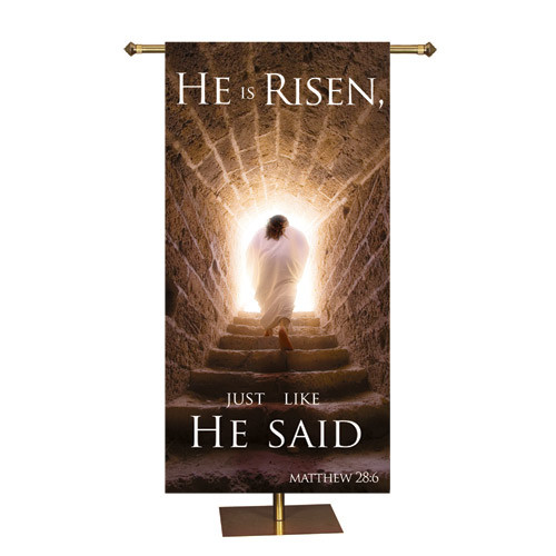 Easter Promise Series Banner | He Is Risen |  3' x 6'