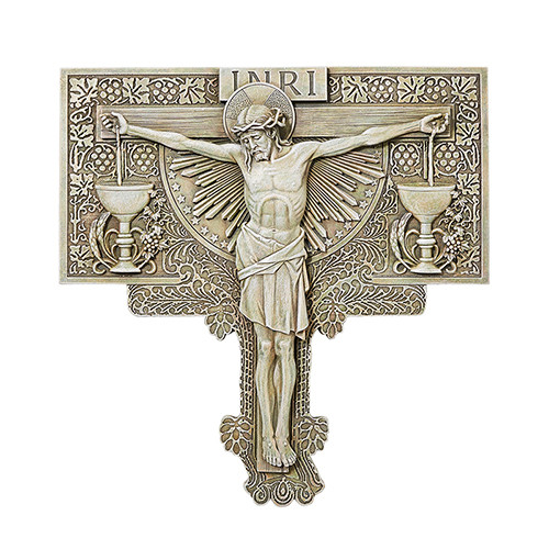 "11"" Crucifixion Garden Plaque 