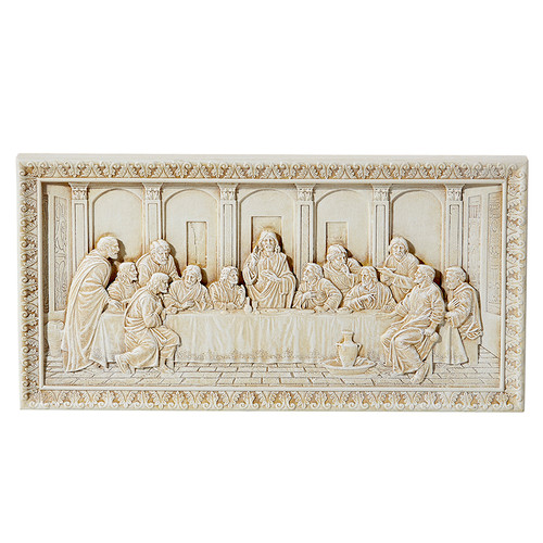 "11"" Last Supper Ivory Plaque 
