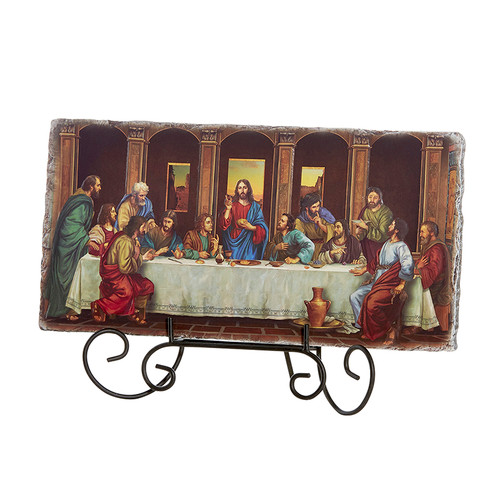 "11""W Last Supper Tile Plaque 
