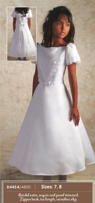 Pearl Trimmed Communion Dress | Size 6