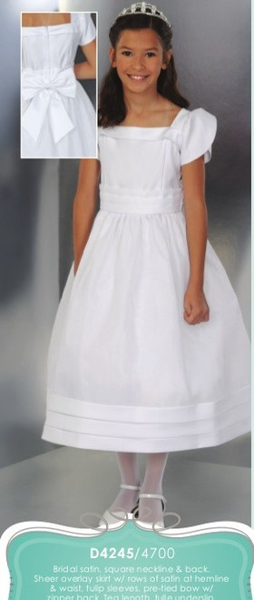 Bridal Satin Communion Dress | Size 7