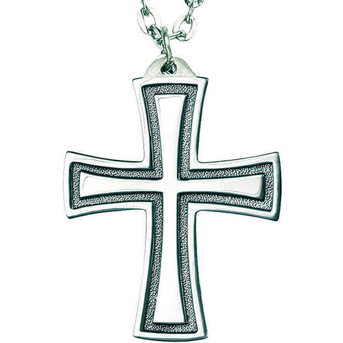"2 5/8"" Sterling Silver Flared Cross 