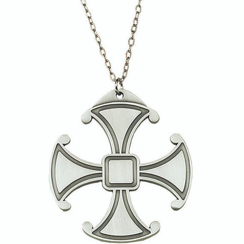 "3"" Pewter Canterbury Pectoral Cross 