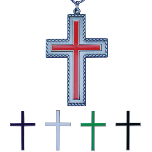 "3 5/8"" Interchangeable Liturgical Pectoral Latin Cross 