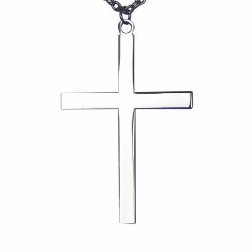 "2 1/2"" Silver Plated Pectoral Latin Acolyte Cross 