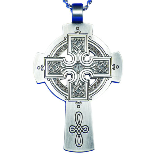 """3"""" Pewter Celtic Pectoral Cross 