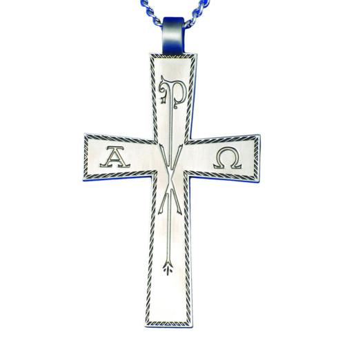 "3 1/4"" Alpa Omega Chi Rho Pectoral Cross | 32"" Chain"