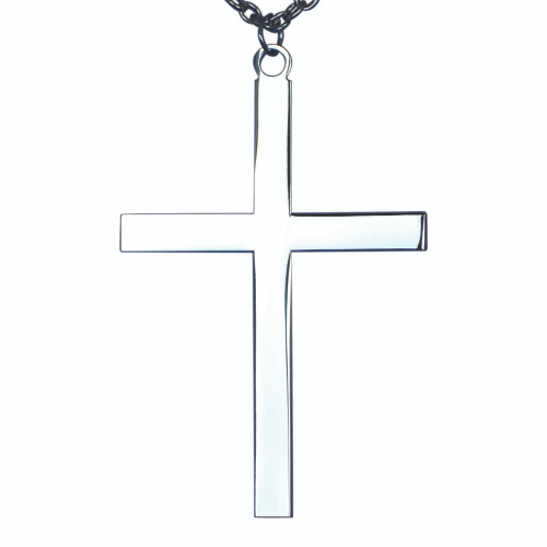 """2 1/2"""" Silver Plated Latin Cross 