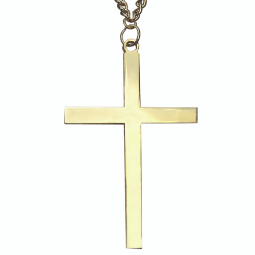 "2 1/2"" Gold Plated Latin Cross 