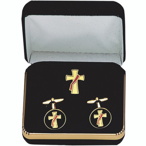 Gold-Plated Deacon Cufflink Set