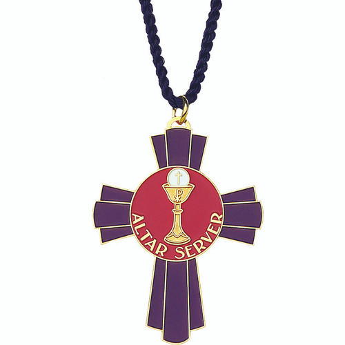 "2 1/2""  Gold-Plated Altar Server Pendant"
