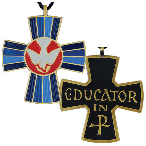 "2 1/2""  Polished Bronze Teaching Ministry: Educator Pendant"