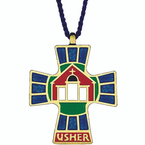 """2 1/2""""  Gold-Plated Usher/Hospitality Pendant"""