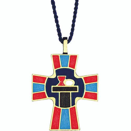 """2 1/2""""  Antiqued Bronze Eucharistic Minister Pendant"""
