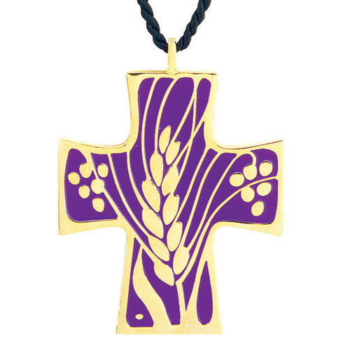 "2 1/2""  Gold-Plated Eucharistic Minister Pendant"