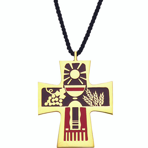 "2 1/2"" Gold-Plated Table of the Lord Pendant"