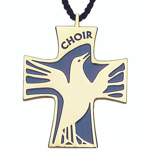 """2 1/4"""" Gold-Plated Choir Cross"""
