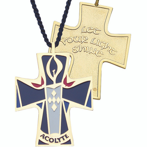 "2"" Gold-Plated Acolyte Cross"