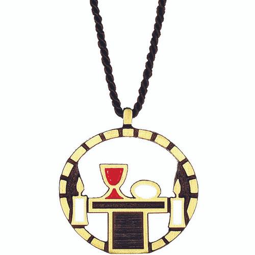 "2"" Bronze Eucharistic Minister Altar Server Pendant"
