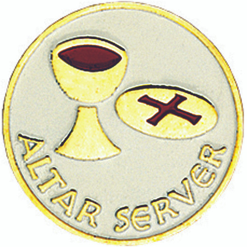 Gold-Plated Altar Server Lapel Pin