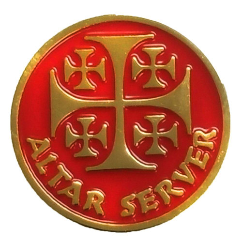 "1"" Gold-Plated Altar Server Lapel Pin"