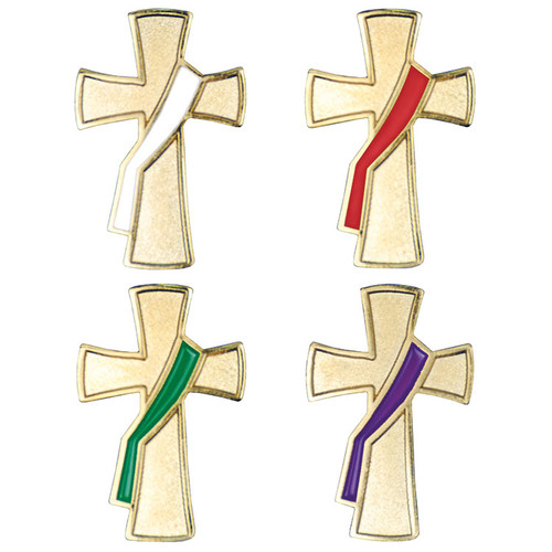 "1"" Deacon Liturgical Color Pins 