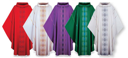 #3160 Terra Gothic Chasuble | Roll Collar | Viscose/Poly | All Colors