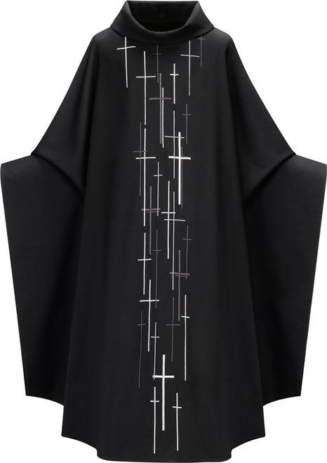 #5088 All Souls Monastic Chasuble | Roll Collar | 100% Wool