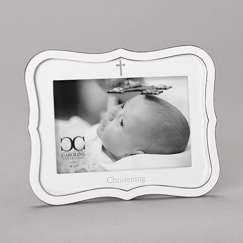 "6.5"" Baptism Christening Frame   Holds 4"" x 6"" Photo"